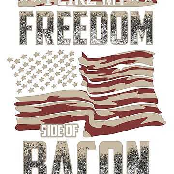 American Flag Gift Bacon Lover Freedom Banner Men Women Mid by GabiBlaze