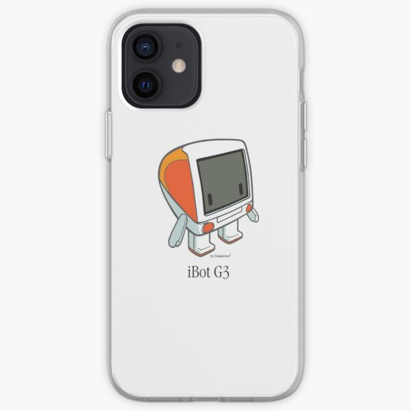 """""""iBot G3 Tangerine"""" cute robot  by Classicbot iPhone Soft Case"""