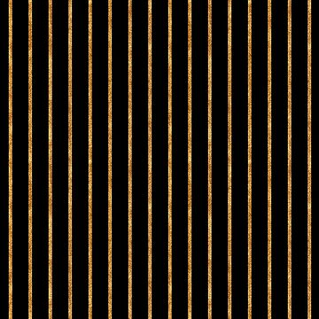 Black and Gold Stripes Geometric Pattern by JakeRhodes