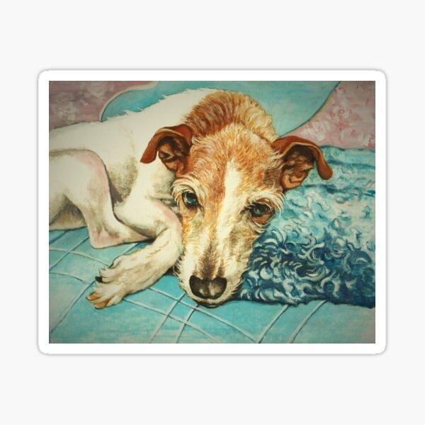 Tired Old Terrier Sticker