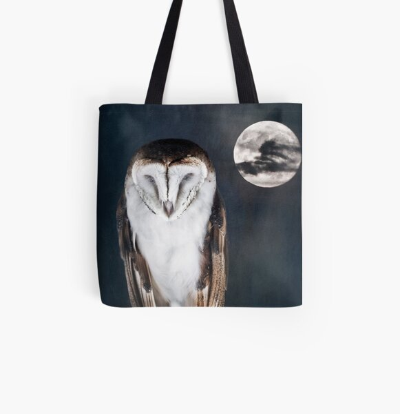 Artful Owl All Over Print Tote Bag