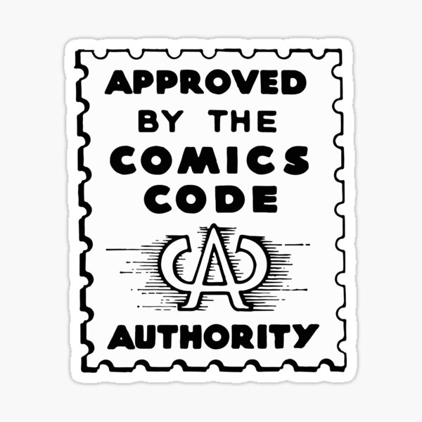 Comics Code Approved Sticker