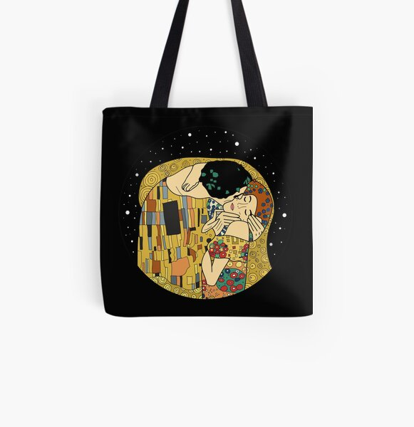 The Kiss All Over Print Tote Bag