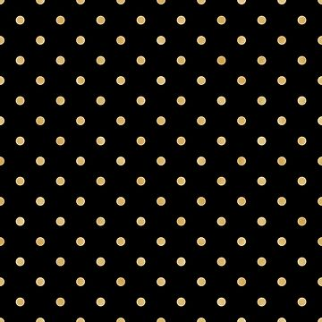 Black and Gold Texture Polk A Dot Pattern by JakeRhodes