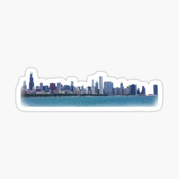 Chicago Skyline Photo Sticker
