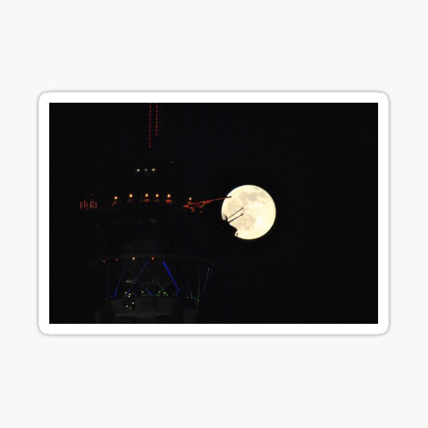Full Moon & Stratosphere Tower Sticker