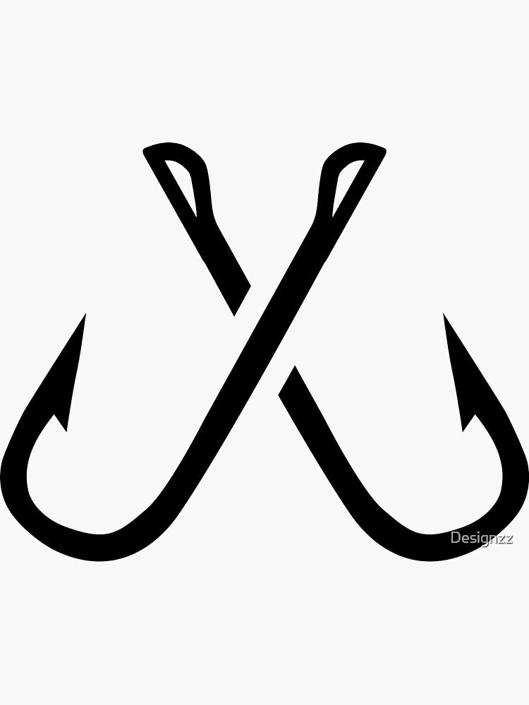 Crossed fishing hooks by Designzz