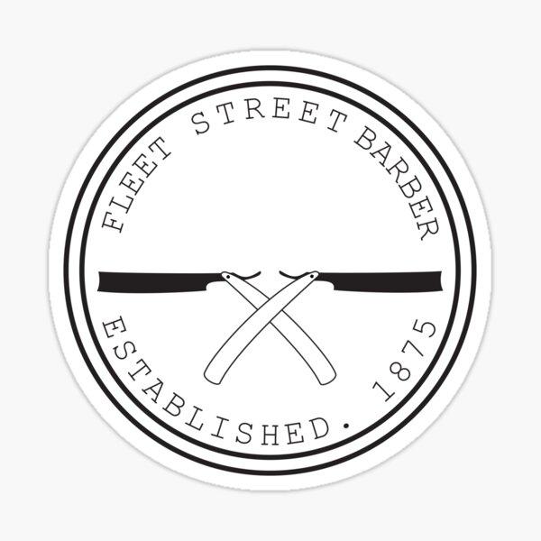 Fleet Steet Barber Sticker