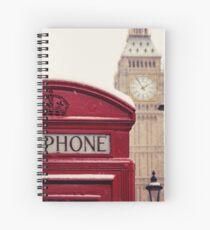 A very London telephone box Spiral Notebook