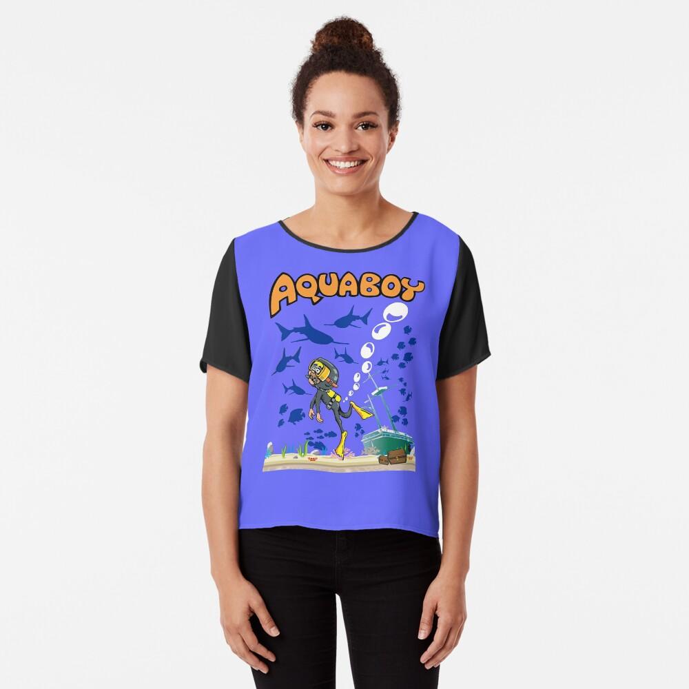 Aquaboy - Tiefblaues Meeresabenteuer Chiffon Top