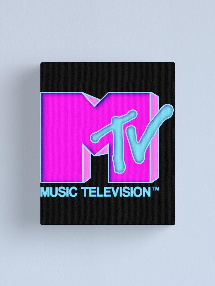 Alternate view of  MTV - Neon 80s design Canvas Print