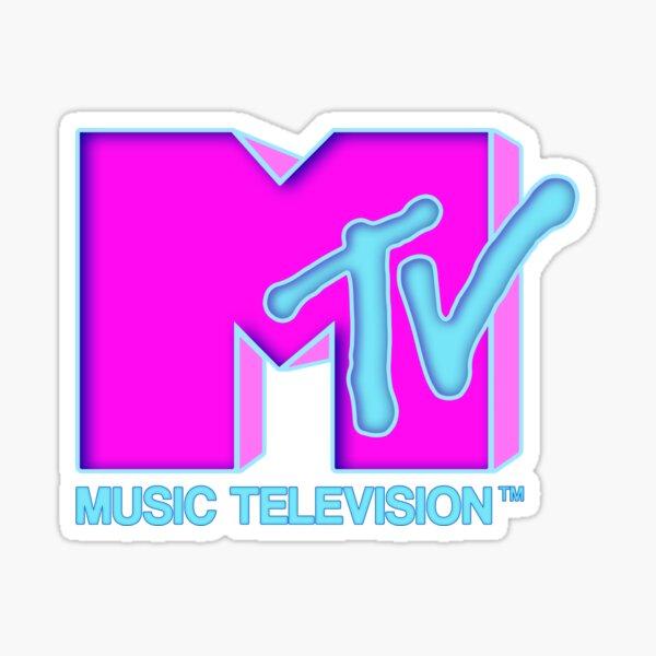 MTV - Neon 80s design Pegatina