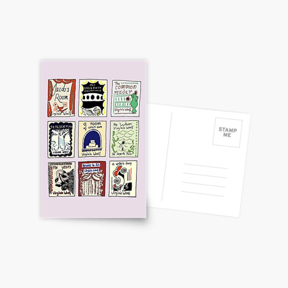 Virginia Woolf Book Covers Postcard