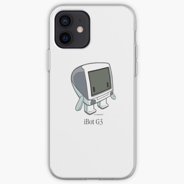 """""""iBot G3 Graphite"""" cute robot  by Classicbot iPhone Soft Case"""