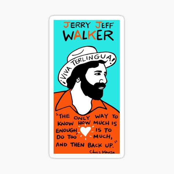 Jerry Jeff Walker Pop Folk Art Sticker