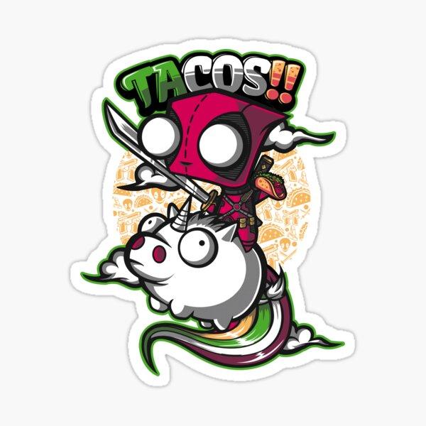 tacos y unicornios Pegatina