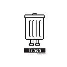 """""""Trashbot"""" Trash Icon graphic by Classicbot by Classicbot"""