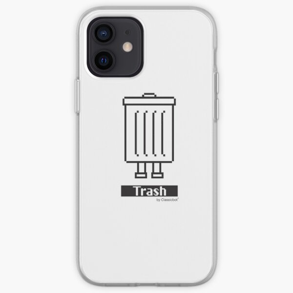 """""""Trashbot"""" Trash Icon graphic by Classicbot iPhone Soft Case"""