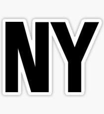 New York NY Black Ink Sticker