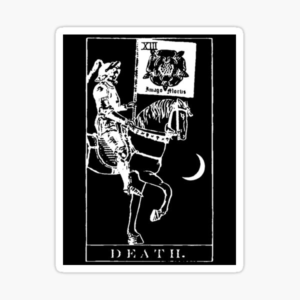 Death Tarot XIII Sticker Sticker