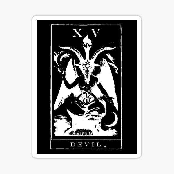 Devil Tarot XV Sticker Sticker