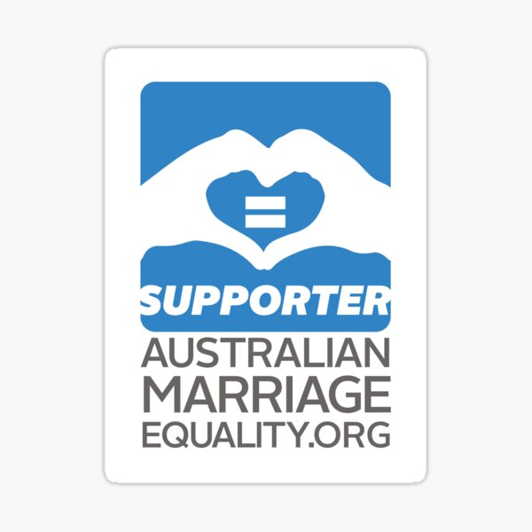 Australian Marriage Equality Supporter Sticker