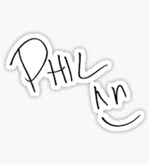 Phil lester signature Sticker