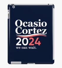 Alexandria Ocasio Cortez (AOC) 2024, wir können warten iPad-Hülle & Klebefolie