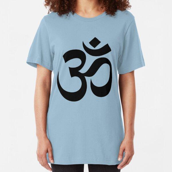 Om - Aum - Black Slim Fit T-Shirt