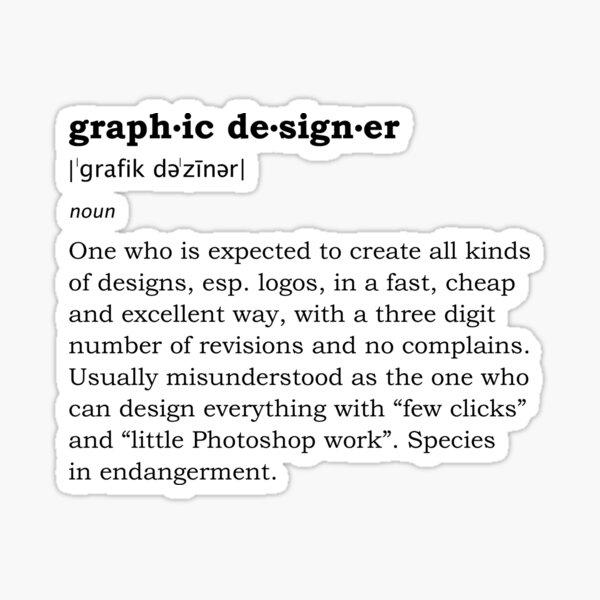 Graphic designer Sticker