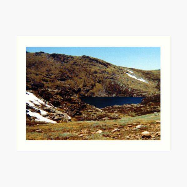 Blue Lake, Mt Kosciuszko Art Print