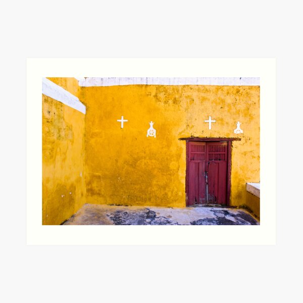 Convent at Izamal Detail Art Print