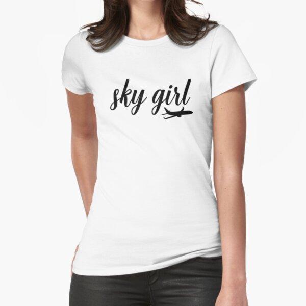 Sky Girl - Flight Attendant Flight Attendant Cabin Crew Fitted T-Shirt
