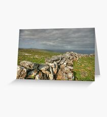 Burren Stone Walls Greeting Card