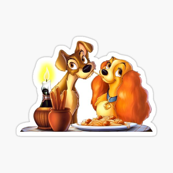 lady and the tramp Sticker