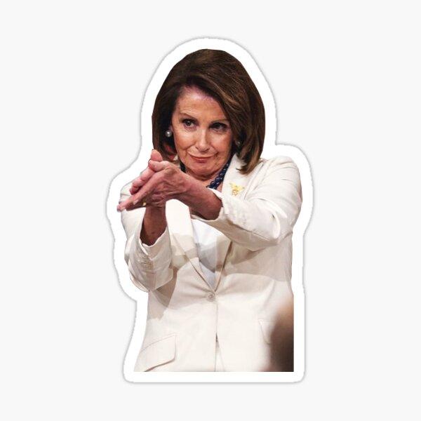 Nancy Pelosi Clap Sarcasm metoo feminism meme Sticker
