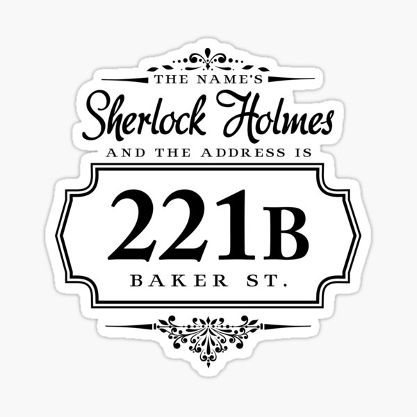 Le nom est Sherlock Holmes Sticker