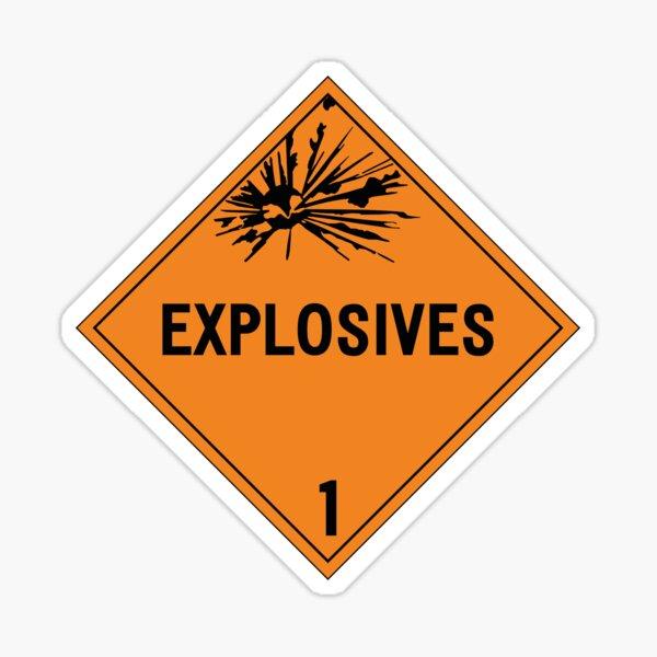 HAZMAT Class 1: Explosives Sticker