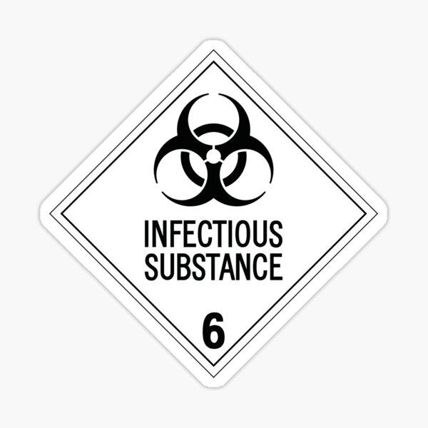 HAZMAT Class 6.2: Biohazard Sticker