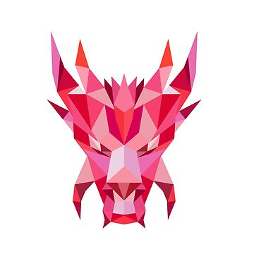 Dragon Head Front Low Polygon Style by patrimonio