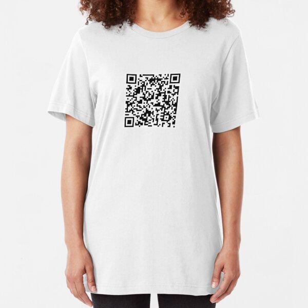 Rick Roll QR Slim Fit T-Shirt