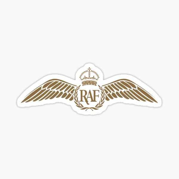 RAF Pilot Wings Sticker