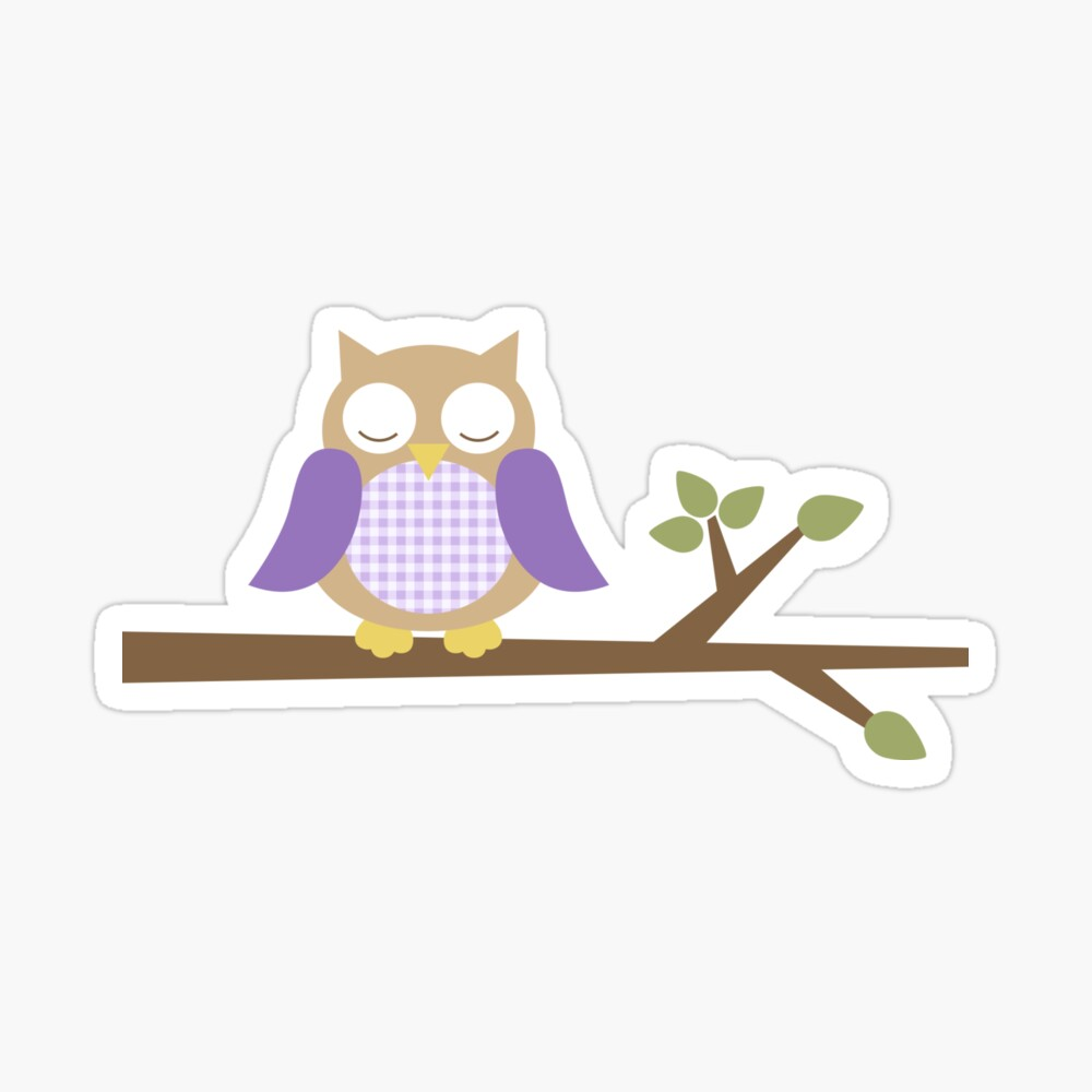 Spring Owl Sticker