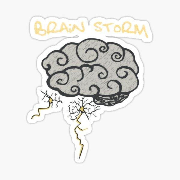 Brain Storm Sticker