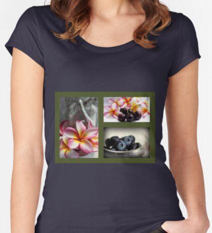 Impressionen des Sommers Tailliertes Rundhals-Shirt