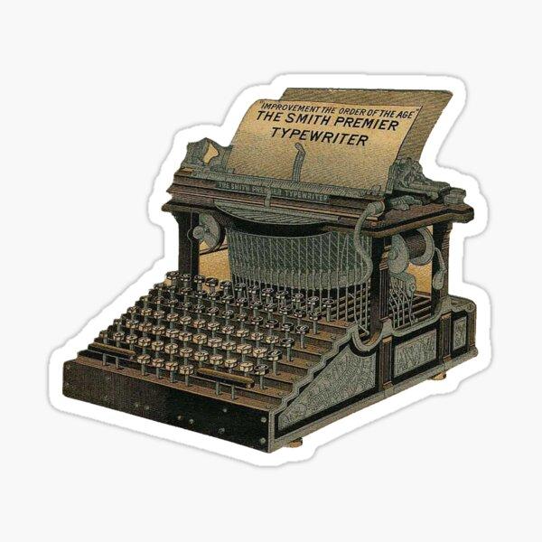 Antique Typewriter Sticker