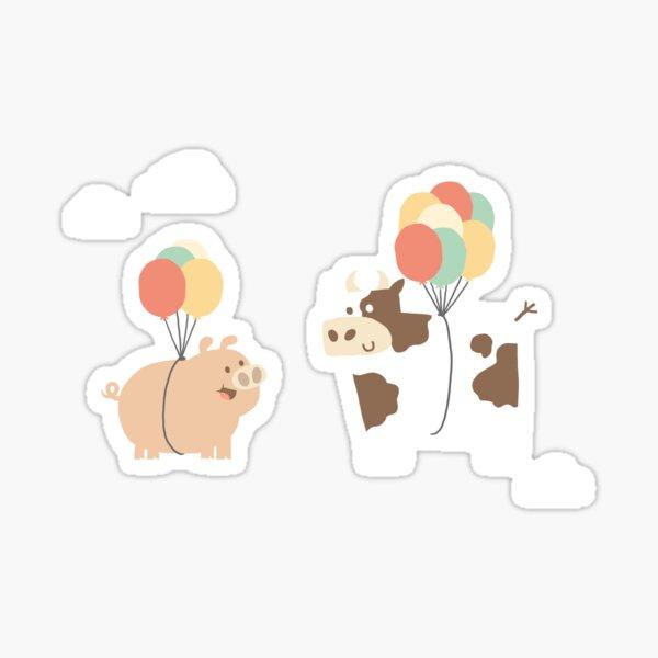 Pig & Cow - Two heavy friends Sticker