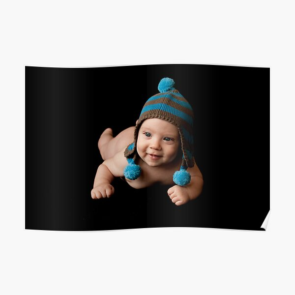 Baby with Beanie Poster