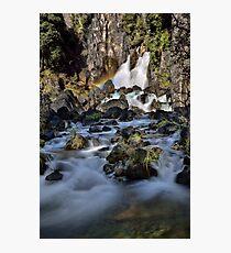 Tarawera Falls Rainbow Photographic Print