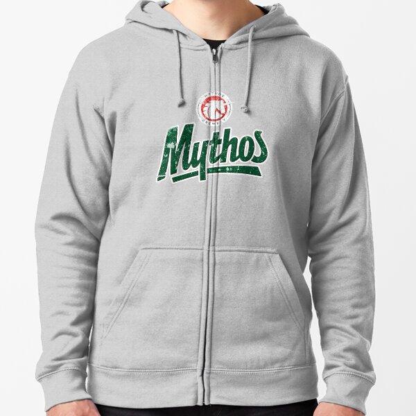 Mythos - Greece - World Beer - Distressed Vintage Design Zipped Hoodie